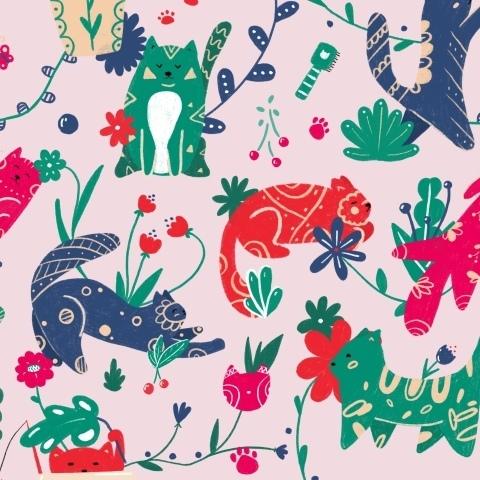 Цветочные котейки