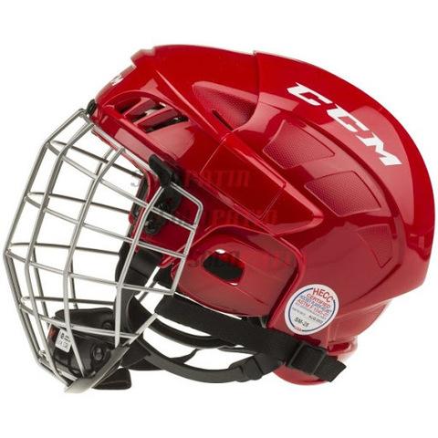 Шлем с маской CCM 50 L красный