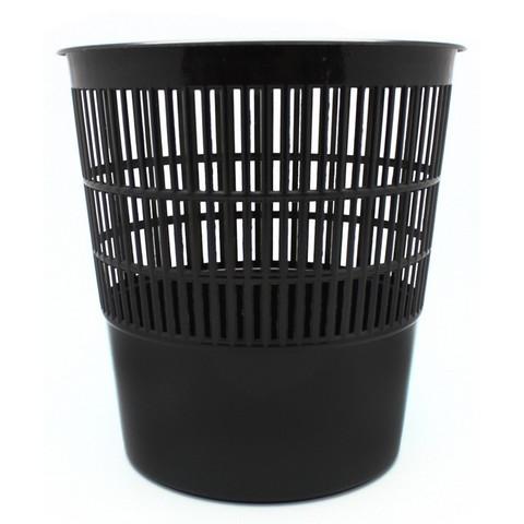 Корзина для мусора 10 л пластик черная (25.8х27.4 см)