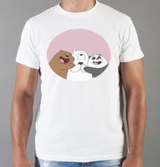 Футболка с принтом Панда, Медвежонок (Panda) белая 005