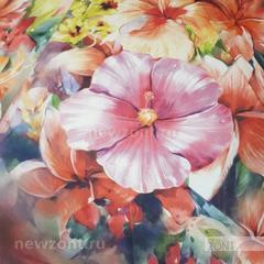Мини зонт от дождя TRUST с красными цветками, механика