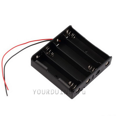 Батарейный отсек 4*АА с проводами питания