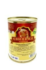 Фермерская свиная тушенка без растительного белка и вредных примесей