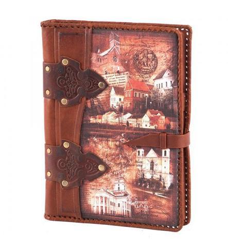 Ежедневник А5 «Старый город». Цвет коричневый