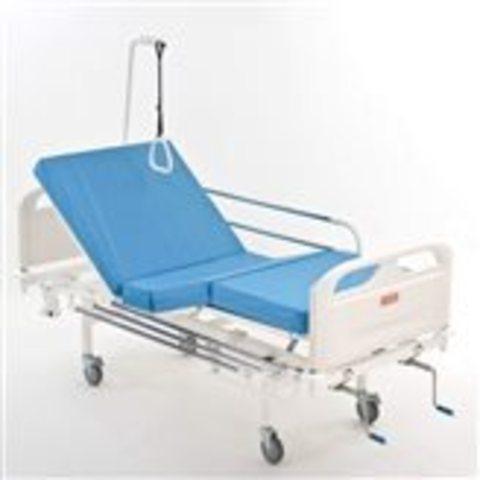 Кровать медицинская функциональная четырехсекционная винтовая МЕТ 3-01 New - фото
