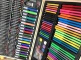 Большой набор для рисования в деревянном чемодане, 251 предмет