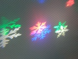 Светодиодный новогодний уличный проектор Снежинка