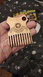 Деревянный гребень для бороды