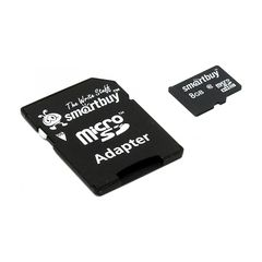 Карта памяти Micro-SD 8 GB Smart Buy Class 10 с адаптером