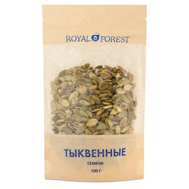 Семечки тыквенные, Royal Forest, 100 г