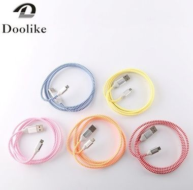 Doolike Cable USB Braid For Micro Pink MOQ:200