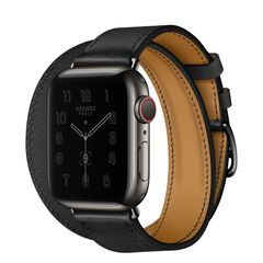 Умные часы Apple Watch Hermès Series 6 GPS + Cellular 44mm Space Black Stainless Steel Case with Double Tour (Noir)