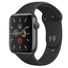 Часы Apple Watch Series 5 GPS 44mm Aluminum Case with Sport Band Серый Космос/Черный MWVF2