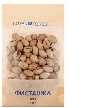 Орехи фисташки, Royal Forest, необжаренная, 100 г