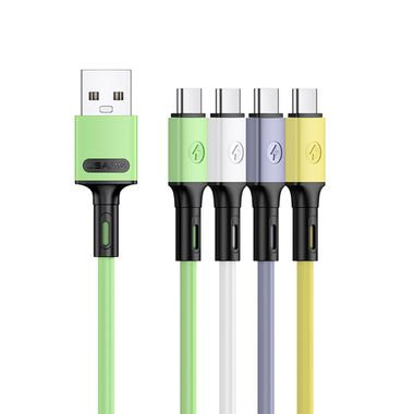 USAMS Cable U52 Type-C 1M Yellow MOQ:90 (SJ436USB03)
