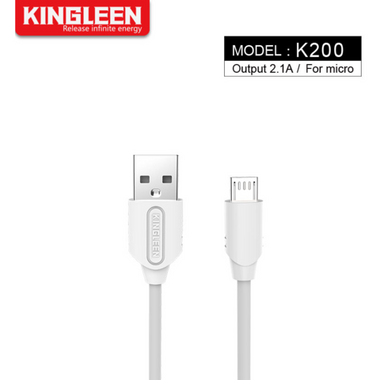 Kingleen Cable K200 For Micro 1M 2.1A White MOQ:180