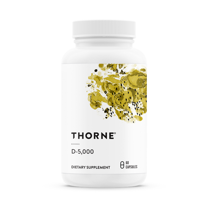 Витамин Д 3, D-5000, Vitamin D, Thorne Research, NSF Certified for Sport (60 капсул)