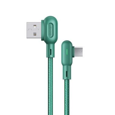 USAMS Cable U57 Dual Right Angle With Colorful Light For Micro 1.2M Green MOQ:120 (SJ458USB02)
