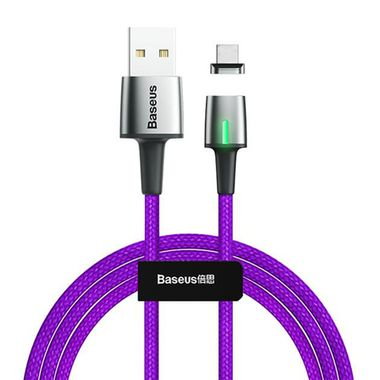 Baseus Cable Zinc Magnetic For Type-C 3A 1m Purple MOQ:20 (CATXC-A05)