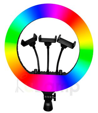 Кольцевая лампа LED Ring Light 36 RGB с пультом ДУ