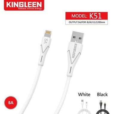 Kingleen Cable K51 For Lightning 1.2M 5A Black MOQ:180