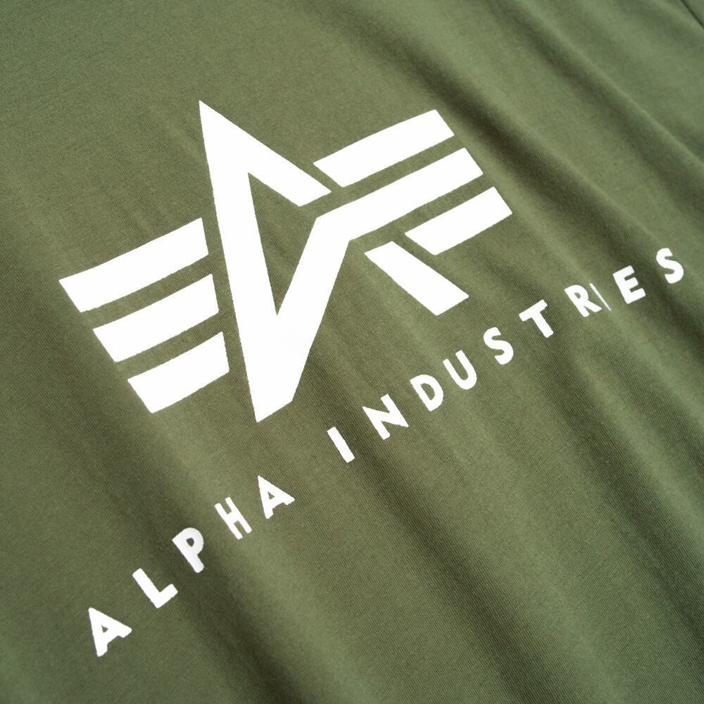 Футболка Alpha Industries Basic Logo Зеленая
